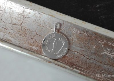 Osobní šperk z otisku nožiček sourozenců - kolečko velké