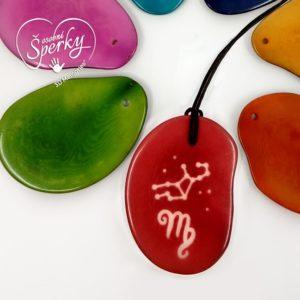 Osobní šperk z Tagua ořechu se znamením zvěrokruhu - Panna